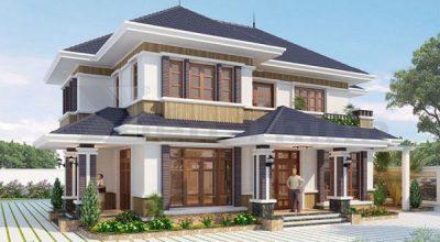 Kiến trúc nhà 3 gian với thêm 2 tầng đẹp