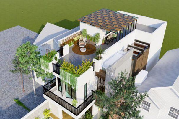 Những lợi ích khi thiết kế nhà 2 tầng 1 tum