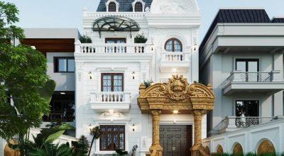 Mẫu nhà biệt thự tân cổ điển 2 tầng
