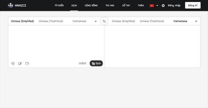 Hanzii trang web dịch tiếng trung chuẩn nhất