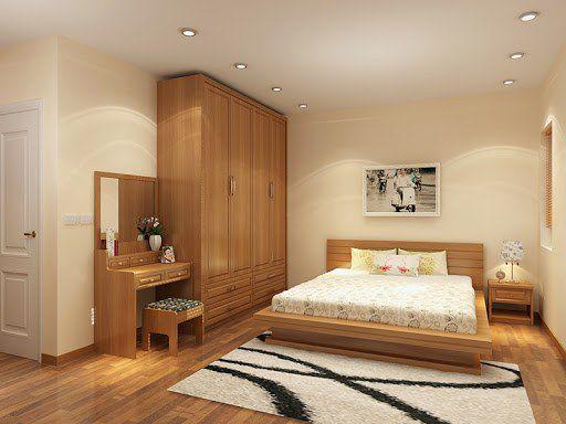 Gỗ công nghiệp được sử dụng nhiều trong thiết kế nội thất phòng ngủ