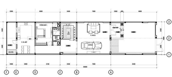 Công năng tầng 1 biệt thự kiểu Pháp tân cổ điển