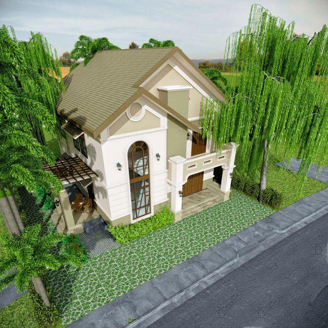 Xu hướng mẫu nhà 2 tầng mái lợp tôn đẹp hiện nah - Hình 1