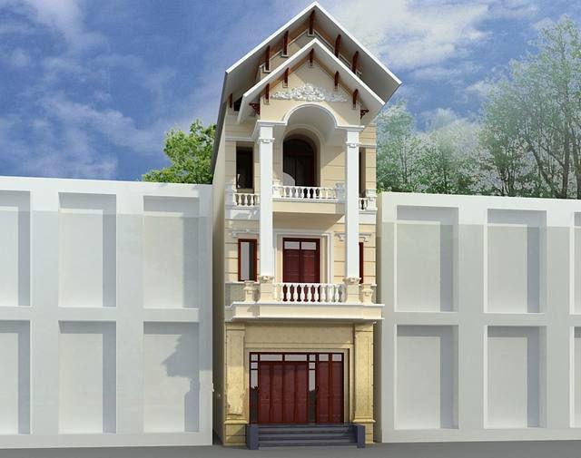 Khám phá hình ảnh nhà ống 3 tầng mái thái mặt tiền 5m - H1