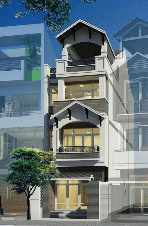 Khám phá hình ảnh nhà ống 3 tầng mái thái mặt tiền 5m - H3