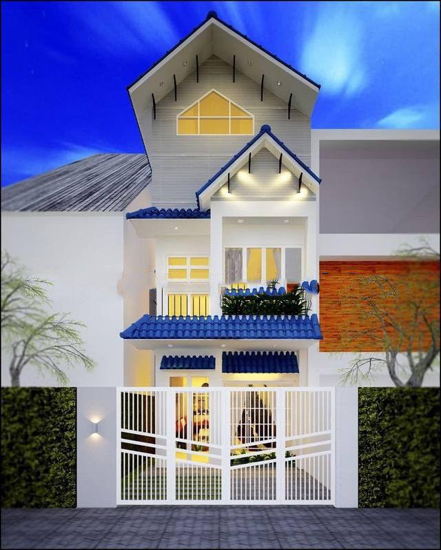Căn nhà ống 3 tầng mái thái mặt tiền 5m