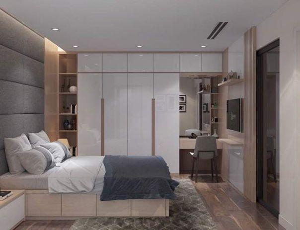 Nội thất phòng ngủ đẹp bằng gỗ công nghiệp MDF - Hình 1