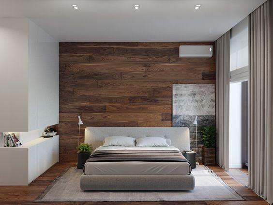 Mẫu phòng ngủ hiện đại  gỗ công nghiệp hình 1