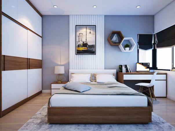 Mẫu phòng ngủ hiện đại  gỗ công nghiệp hình 2