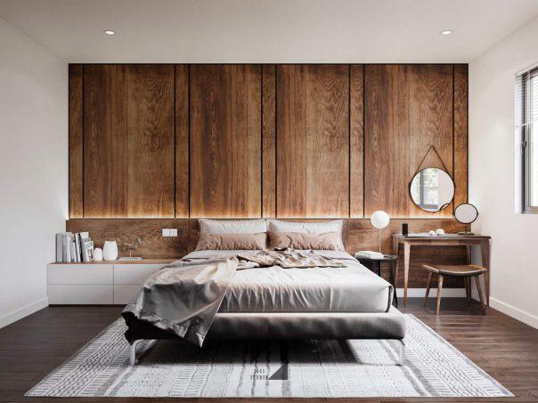 Mẫu phòng ngủ hiện đại  gỗ công nghiệp hình 4