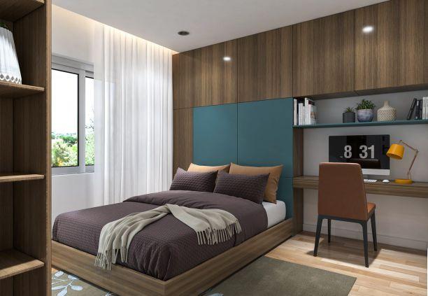 Nội thất phòng ngủ đẹp bằng gỗ công nghiệp MDF - Hình 2
