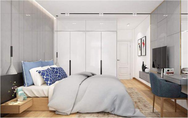 Nội thất phòng ngủ đẹp bằng gỗ công nghiệp MDF - Hình 3