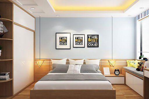 Thiết kế phòng ngủ bằng gỗ công nghiệp MDF -  Mẫu 2