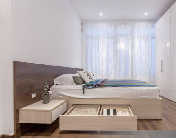 Thiết kế phòng ngủ bằng gỗ công nghiệp MDF -  Mẫu 3