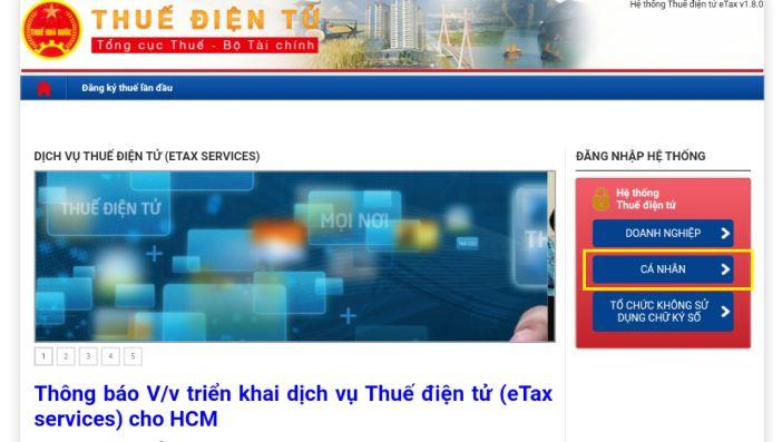 Hướng dẫn tra cứu mã số thuế trên trang web Thuế điện tử