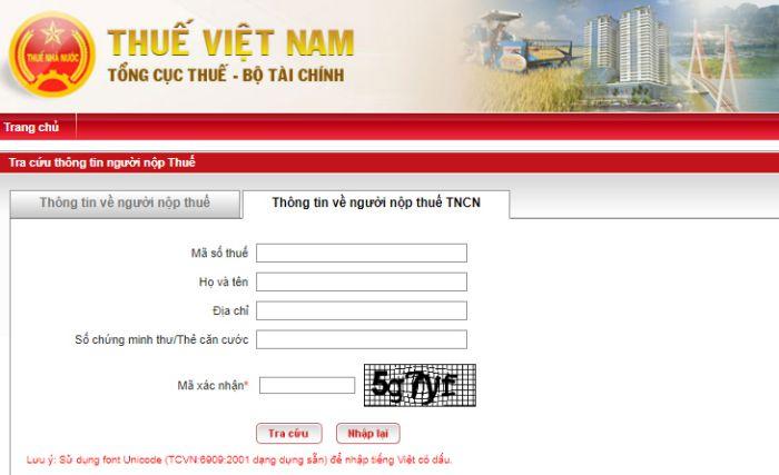 Hướng dẫn cách tra cứu mã số thuê web Thuế Việt Nam